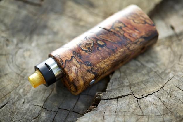 Naturalne Stabilizowane Modowe Pudełka Z Drewna Z Regenerowalnym Kapiącym Atomizerem, Urządzenie Vaping Premium Zdjęcia