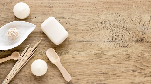Naturalny Kosmetyka Pojęcie Na Drewnianym Stole Darmowe Zdjęcia