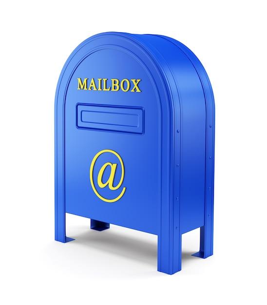 Niebieska skrzynka pocztowa e-mail Premium Zdjęcia