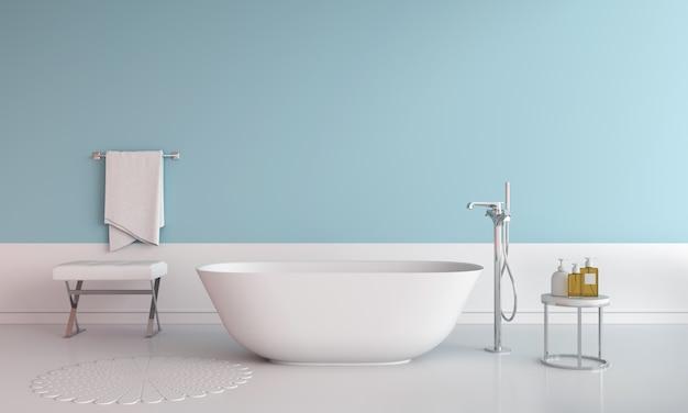 Niebieska wanna łazienkowa Premium Zdjęcia