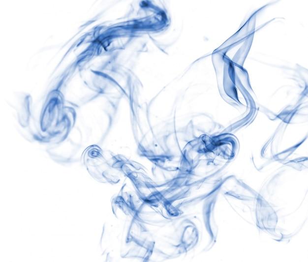 Niebieski Dymu Kolekcji Na Białym Tle Darmowe Zdjęcia