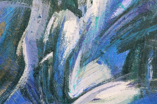 Niebieski obraz akrylowy tekstury Premium Zdjęcia