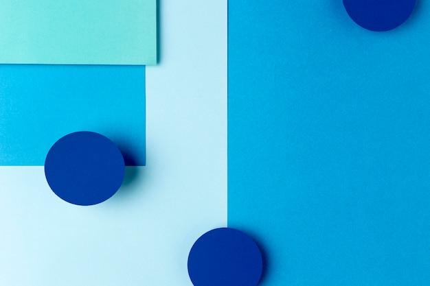 Niebieski Papier Kształtuje Projekt Tła Premium Zdjęcia