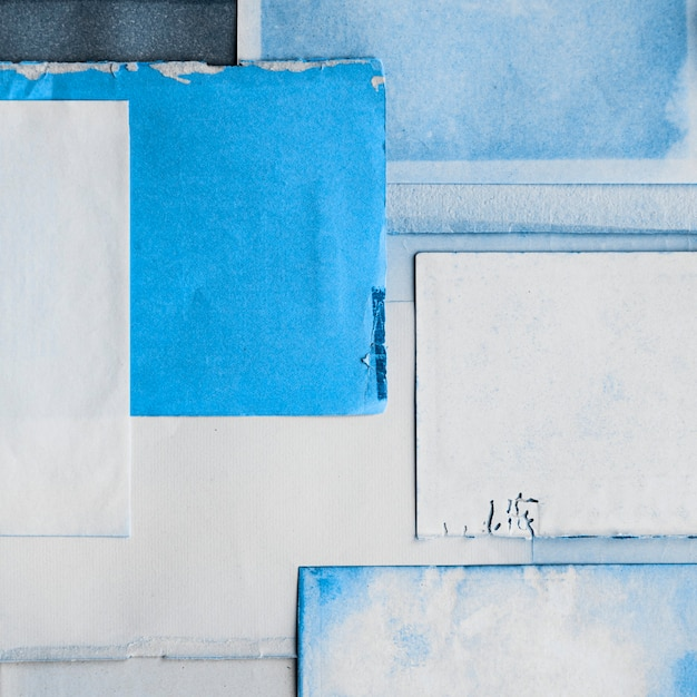 Niebieski Tusz Na Papierze Tekstury Darmowe Zdjęcia