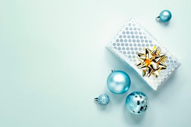 Niebieskie Boże Narodzenie Flat Lay Darmowe Zdjęcia