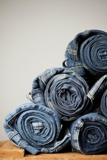 Niebieskie Detale Z Dżinsów Darmowe Zdjęcia