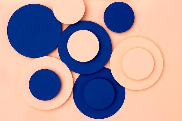 Niebieskie I Brzoskwiniowe Koła Papieru Tło Darmowe Zdjęcia