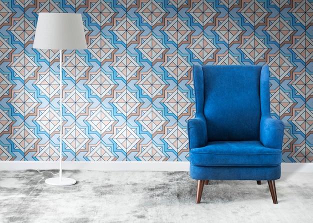 Niebieskie krzesło w pokoju Darmowe Zdjęcia