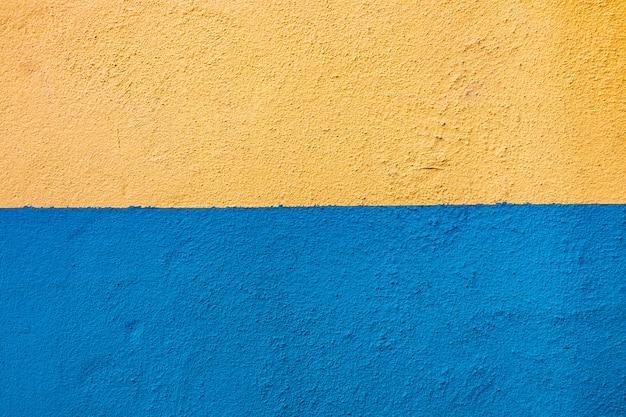Niebieskie Tło żółte ściany Premium Zdjęcia