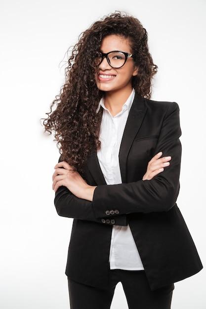 Niesamowita Afrykańska Biznesowa Dama W Okularach Darmowe Zdjęcia