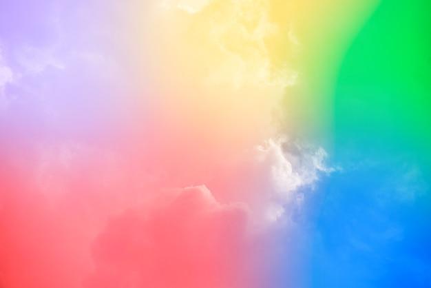 Niesamowite, Piękne Niebo Sztuki Z Kolorowymi Chmurami Darmowe Zdjęcia