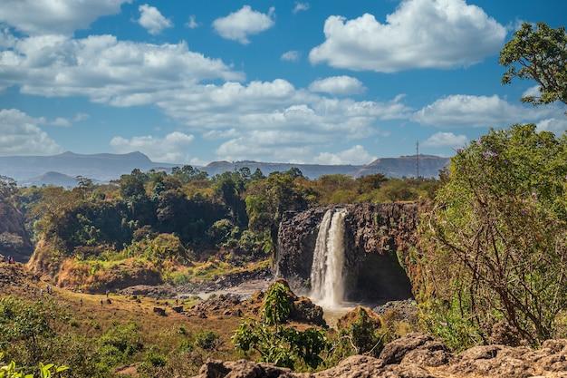 Niesamowite Ujęcie Wodospadu Nilu Błękitnego W Etiopii Darmowe Zdjęcia