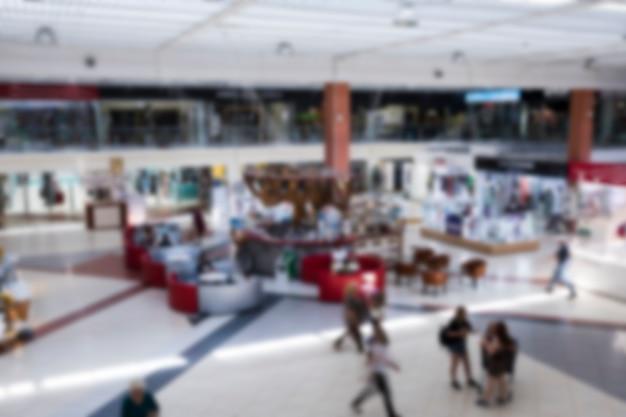 Niewyraźne Centrum Handlowe Z Góry Darmowe Zdjęcia