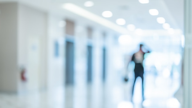 Niewyraźne pacjenta w szpitalu Premium Zdjęcia