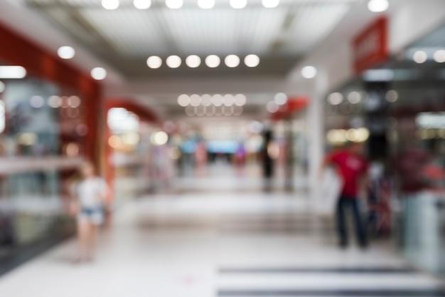 Niewyraźne wnętrze centrum handlowego Darmowe Zdjęcia