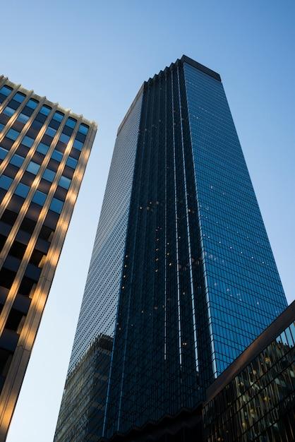 Niskiego Kąta Widok Ids Centre Wierza Przy W Centrum Minneapolis, Hennepin Okręg Administracyjny, Minnestoa, Usa Premium Zdjęcia