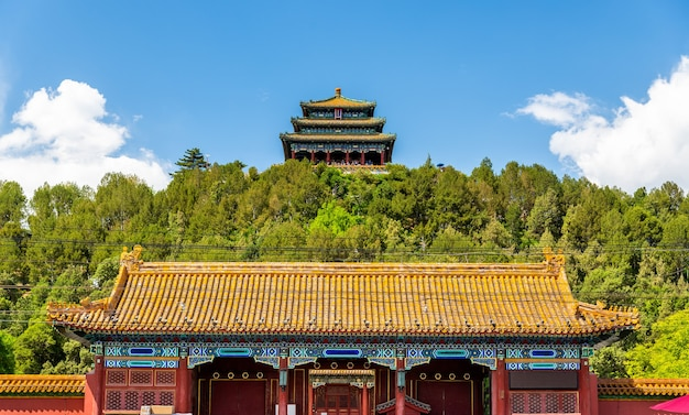 North Gate I Wanchun Pavilion W Jingshan Park - Pekin, Chiny Premium Zdjęcia