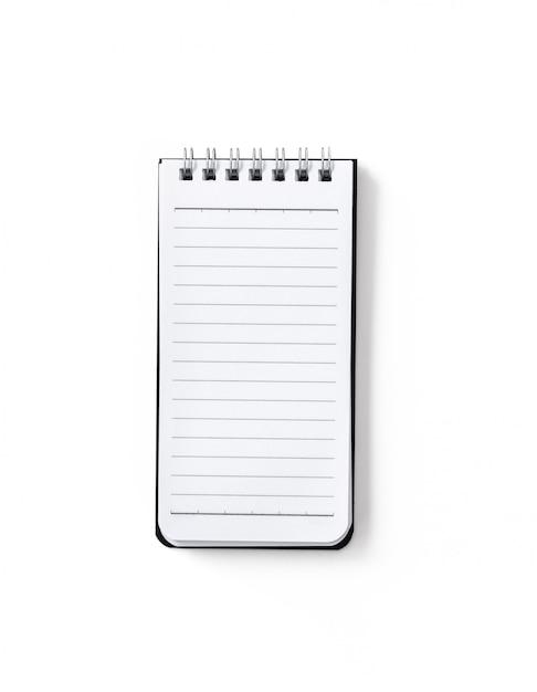 Notatnik Na Odosobnionym Białym Tle Premium Zdjęcia