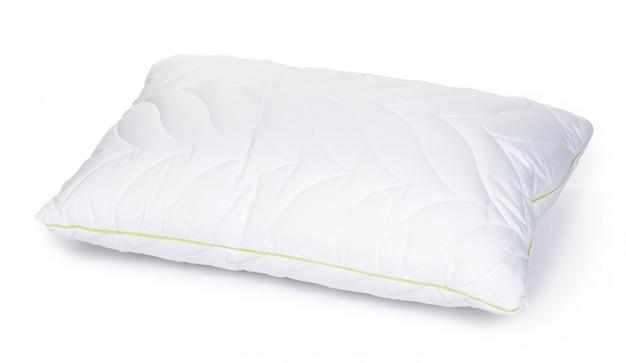 Nowa poduszka w opakowaniu na białym tle Premium Zdjęcia
