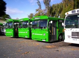 Nowa Zelandia Jest O Zielonych Autobusów Darmowe Zdjęcia