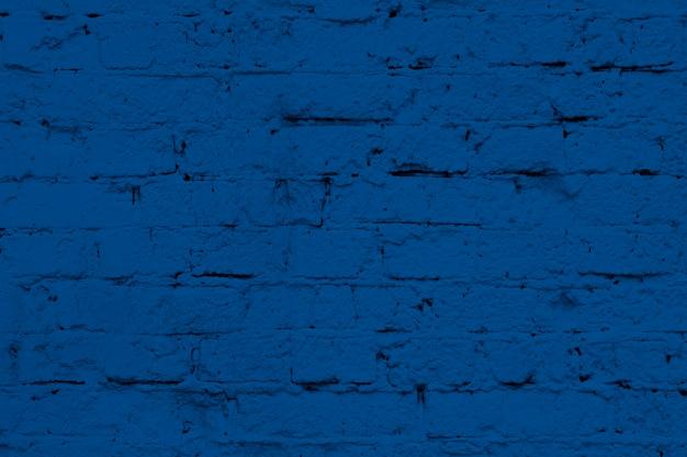 Nowoczesna Biała ściana Z Cegieł Tekstura W Klasycznym Kolorze Niebieskim Premium Zdjęcia