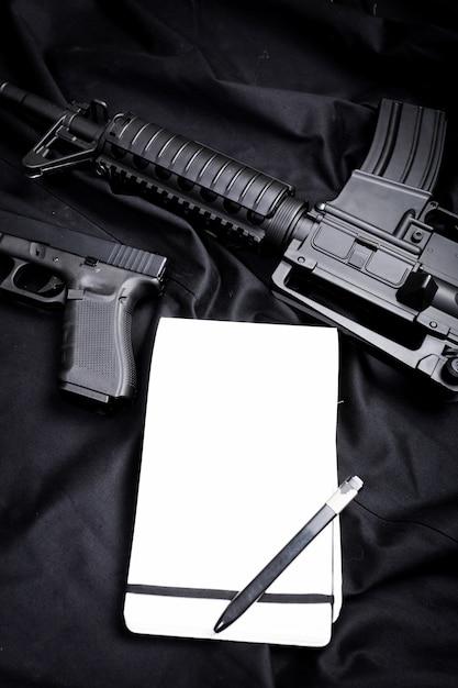 Nowoczesna broń, czarna Premium Zdjęcia
