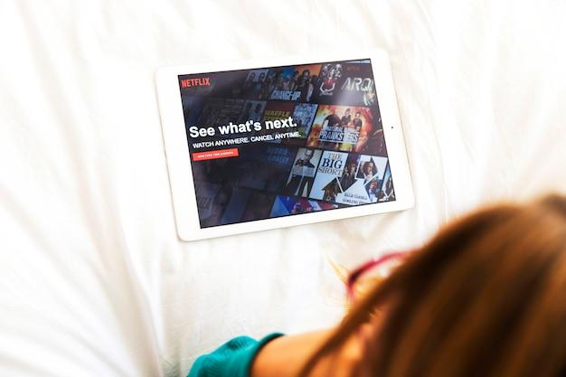 Nowoczesne urządzenie z aplikacją netflix Darmowe Zdjęcia