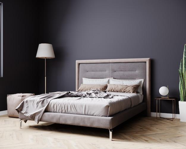 Nowoczesne Wnętrze Sypialni Premium Zdjęcia
