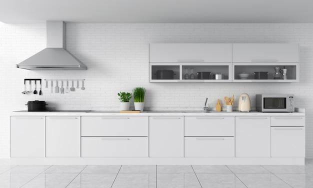 Nowoczesny blat kuchenny i elektryczna kuchenka indukcyjna Premium Zdjęcia