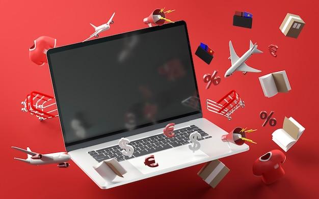 Nowoczesny Laptop Na Wyprzedaż W Czarny Piątek Darmowe Zdjęcia