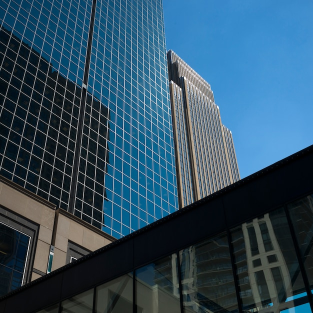 Nowożytni Budynki Biurowi Przy W Centrum Minneapolis, Hennepin Okręg Administracyjny, Minnestoa, Usa Premium Zdjęcia