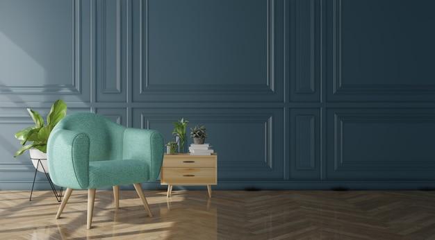 Nowożytny żywy izbowy wnętrze z kanapą i lampą Premium Zdjęcia