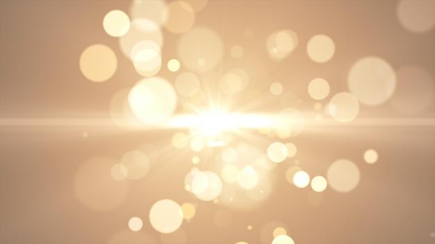 Nowy Rok 2020. Tło Bokeh. światła Streszczenie. Wesołych świąt Bożego Narodzenia Tło. Złoty Blask światła. Nieostre Cząstki. Złoty Kolor. Rozbłysk Premium Zdjęcia