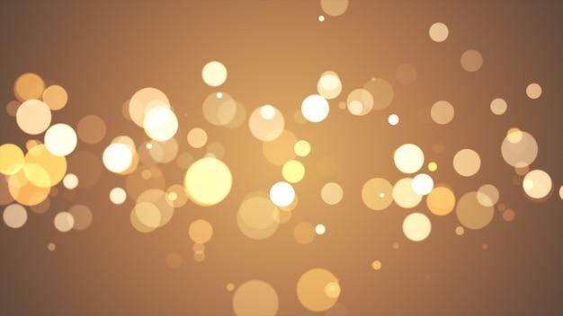 Nowy Rok 2020. Tło Bokeh. światła Streszczenie. Wesołych świąt Bożego Narodzenia Tło. Złoty Blask światła. Nieostre Cząstki. Złoty Kolor Premium Zdjęcia