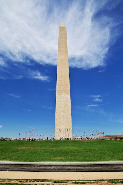 Obelisk W Waszyngtonie, Stany Zjednoczone Premium Zdjęcia