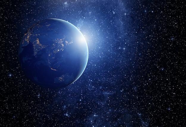 Obraz Gwiazd I Planety W Galaktyce. Niektóre Elementy Tego Obrazu Dostarczone Przez Nasa Premium Zdjęcia
