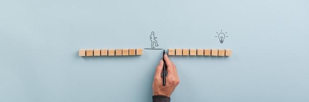 Obraz Koncepcyjny Pracy Zespołowej I Innowacji Premium Zdjęcia