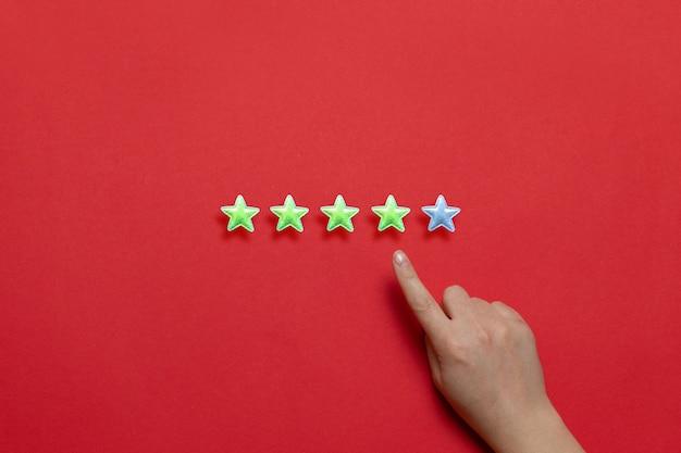 Ocena świadczenia usług. ocena obsługi klienta Premium Zdjęcia
