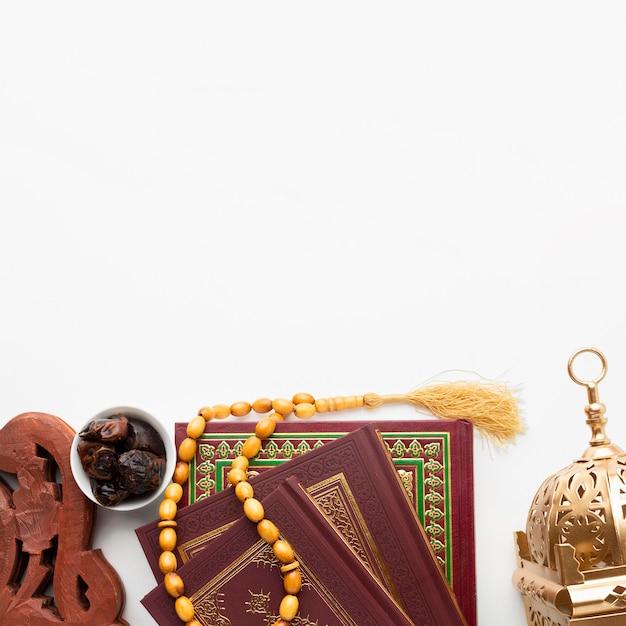 Odgórnego Widoku Nowego Roku Islamski Pojęcie Z Kopii Przestrzenią Darmowe Zdjęcia