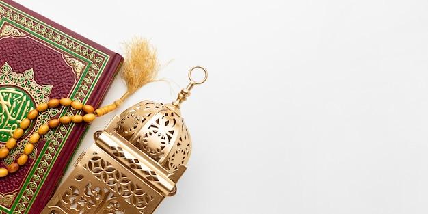 Odgórnego Widoku Nowego Roku Islamski Pojęcie Z Kopii Przestrzenią Premium Zdjęcia