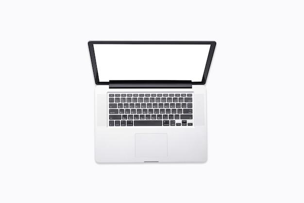 Odgórny widok odizolowywający laptop Premium Zdjęcia