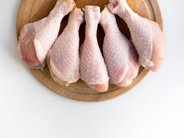 Odgórny Widok Surowe Kurczak Nogi Darmowe Zdjęcia