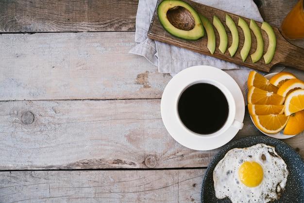 Odgórny Widok Zdrowy śniadanie Z Kopii Przestrzenią Darmowe Zdjęcia
