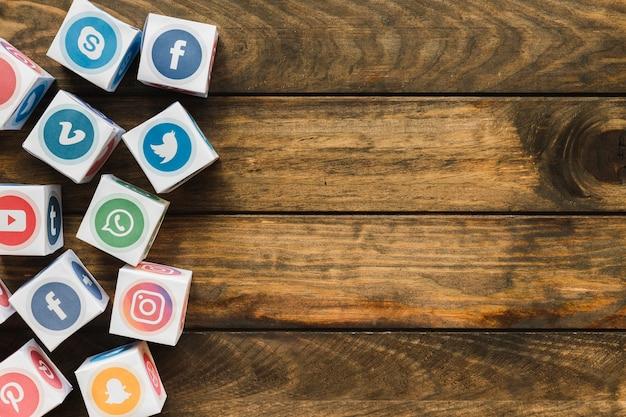 Ogólny widok popularnych mobilnych ikon pola Darmowe Zdjęcia
