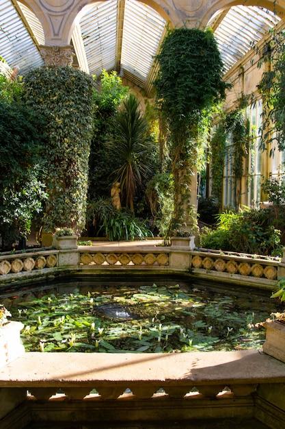 Ogrody Ogrodów Zimowych, Dom Castle Ashby W środkowej Anglii Premium Zdjęcia