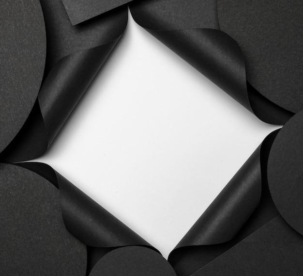 Okrągłe Tło Miejsca Kopiowania I Białe Wycięcie Darmowe Zdjęcia