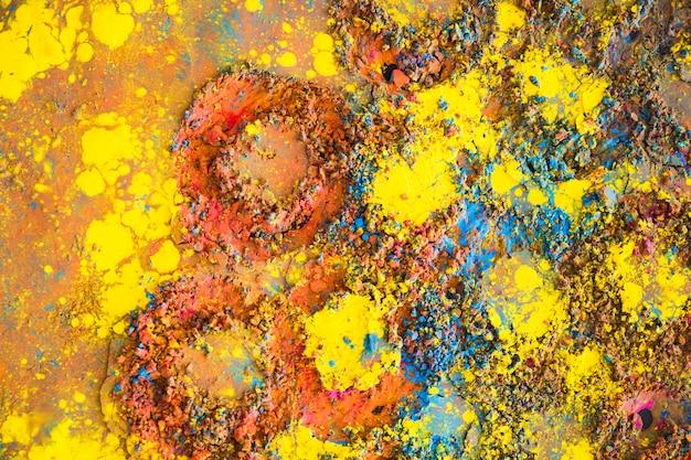 Okrągłe Wydruki Na Pomalowanej Powierzchni Darmowe Zdjęcia