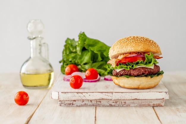 Olej I Hamburger Darmowe Zdjęcia