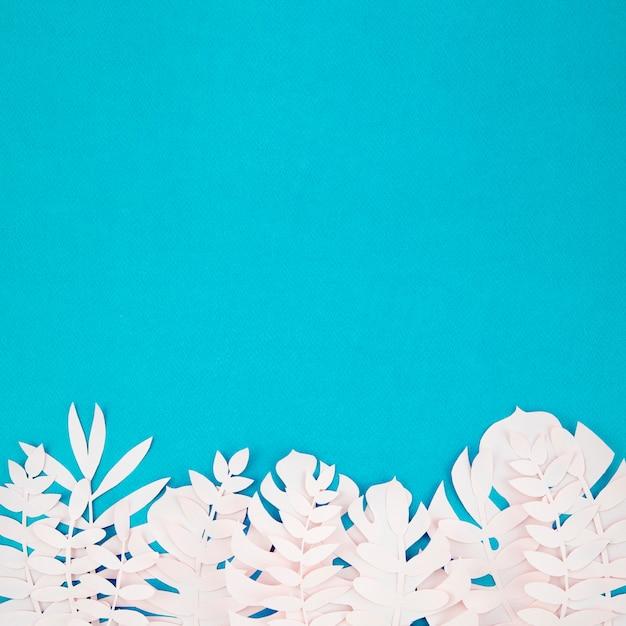 Origami Egzotyczne Papierowe Rośliny Na Błękitnym Tle Darmowe Zdjęcia