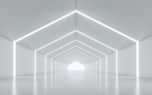Oświetlony Projekt Wnętrza Korytarza Premium Zdjęcia